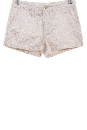 Abercrombie & Fitch Hot Pants wollweiß-goldfarben Allover-Druck