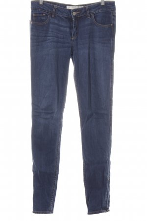 Abercrombie & Fitch Hüftjeans blau-goldorange Jeans-Optik