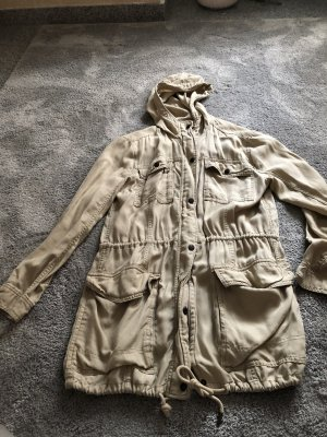 Abercrombie & Fitch Long Jacket oatmeal