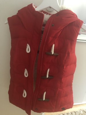 Abercrombie & Fitch Fur Jacket red