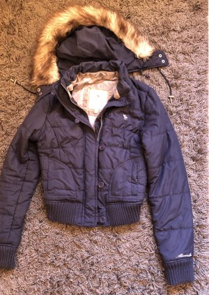 Abercrombie & Fitch Winter Jacket cream-dark blue