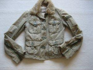 abercrombie & fitch jacke parka vintage gr. xs 36 khaki