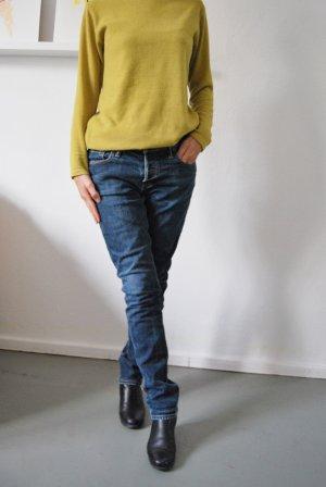Abercrombie & Fitch Pantalón de cinco bolsillos azul-azul oscuro Algodón