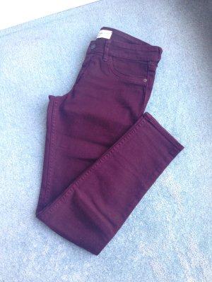 Abercrombie & Fitch Jeans bordeauxrot Größe 36 (W26L29)
