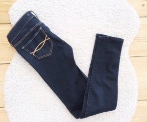 Abercrombie & Fitch Jeans dunkelblau rinse Jeggings Hollister Kids 16 W24 W25