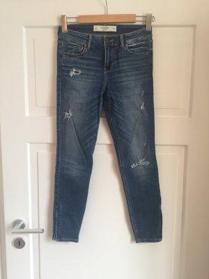 Abercrombie & Fitch Jeans Hose Denim Super Skinny Ankle A&F Wie Neu