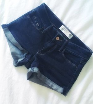 Abercrombie & Fitch Jeans Shorts Low Rise dunkelblau 00 34 XS