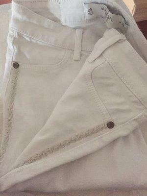 Abercrombie&Fitch Jeans weiß stickerei