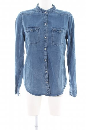 Abercrombie & Fitch Spijkershirt blauw casual uitstraling