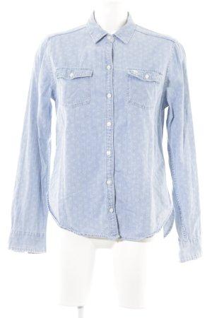 Abercrombie & Fitch Camisa vaquera azul celeste estampado floral look casual