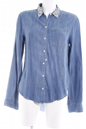 Abercrombie & Fitch Camisa vaquera azul aciano look casual
