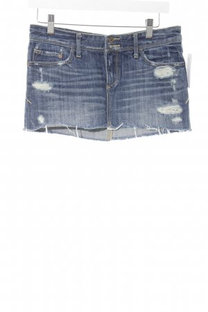 Abercrombie & Fitch Spijkerrok blauw casual uitstraling
