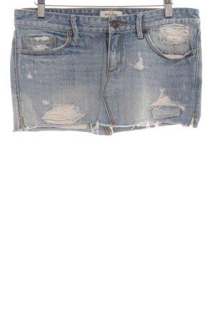 Abercrombie & Fitch Jeansrock hellblau Bleached-Optik