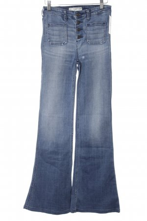 Abercrombie & Fitch Jeansschlaghose blau Casual-Look