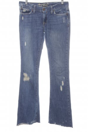 Abercrombie & Fitch Jeansschlaghose stahlblau 70ies-Stil