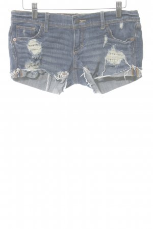 Abercrombie & Fitch Jeansshorts blau Used-Optik