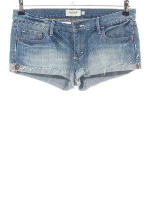 Abercrombie & Fitch Pantaloncino di jeans blu stile casual