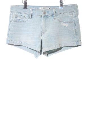 Abercrombie & Fitch Pantalón corto de tela vaquera azul look casual