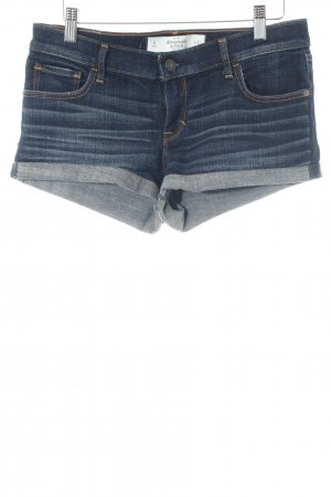 Abercrombie & Fitch Jeansshorts blau Casual-Look