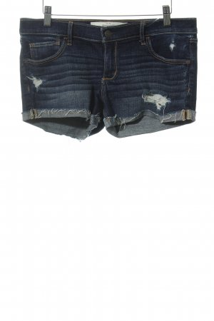 Abercrombie & Fitch Jeansshorts dunkelblau Casual-Look