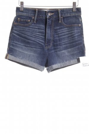 Abercrombie & Fitch Denim Shorts dark blue street-fashion look