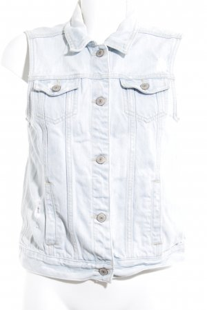 Abercrombie & Fitch Denim Vest light blue casual look