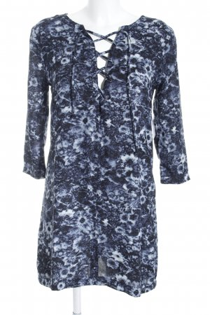 Abercrombie & Fitch Jersey Dress blue-azure flower pattern beach look