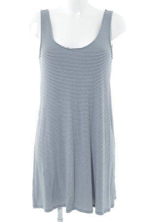 Abercrombie & Fitch Jerseykleid weiß-dunkelblau Streifenmuster Beach-Look