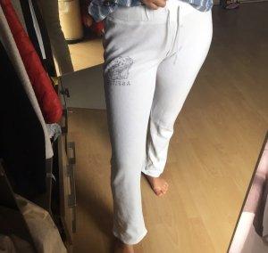 Abercrombie & Fitch Pantalon de jogging blanc-gris clair