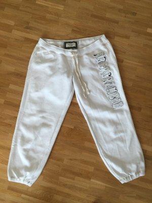 Abercrombie & Fitch Jogginghose mit Bündchen in weiß