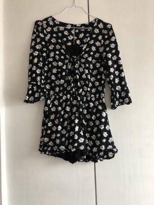 Abercrombie & Fitch Mini Dress black-white cotton