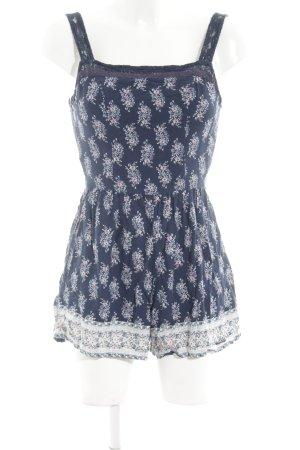Abercrombie & Fitch Jumpsuit blau Blumenmuster Casual-Look