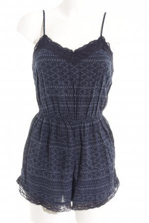 170382439c74 Abercrombie   Fitch Jumpsuit dark blue-azure abstract pattern casual look