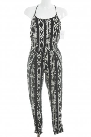 Abercrombie & Fitch Jumpsuit black-white ikat pattern casual look