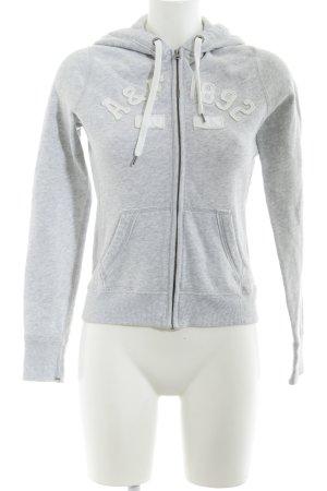 Abercrombie & Fitch Hoody grey-light grey flecked skater style