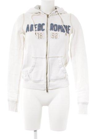 Abercrombie & Fitch Kapuzenjacke weiß-blau Casual-Look