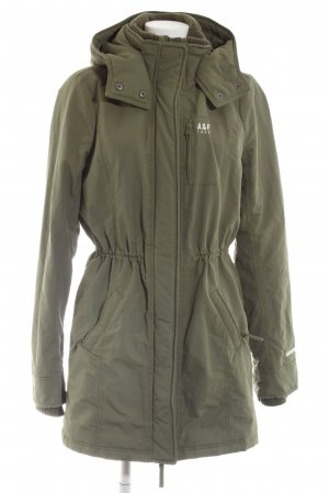 Abercrombie & Fitch Capuchon jas khaki casual uitstraling