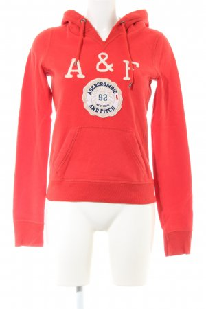 Abercrombie & Fitch Hooded Sweater red casual look