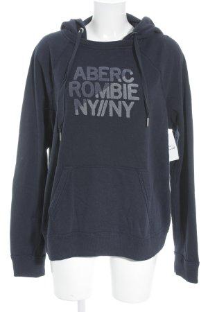 Abercrombie & Fitch Kapuzenpullover dunkelblau sportlicher Stil