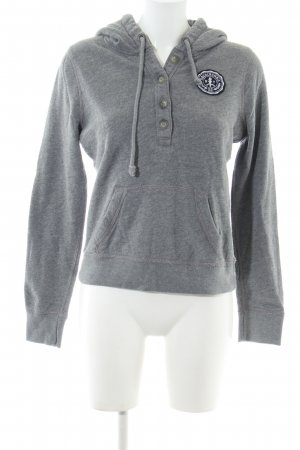 Abercrombie & Fitch Hooded Sweater light grey flecked casual look