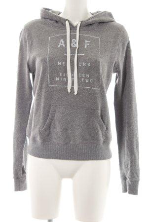 Abercrombie & Fitch Maglione con cappuccio grigio caratteri stampati