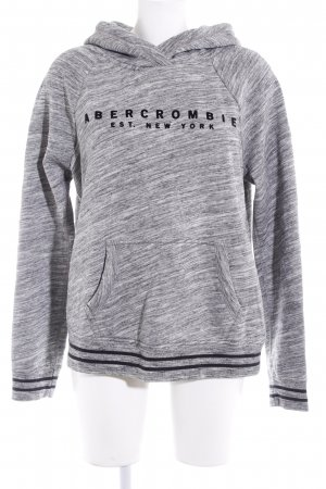 Abercrombie & Fitch Kapuzenpullover grau-schwarz abstraktes Muster Casual-Look