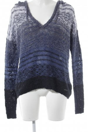 Abercrombie & Fitch Kapuzenpullover hellgrau-blau abstraktes Muster Casual-Look