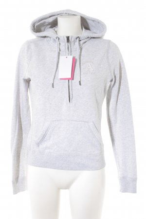 Abercrombie & Fitch Hooded Sweater light grey casual look