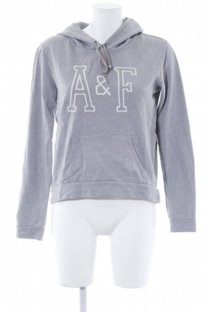 Abercrombie & Fitch Kapuzenpullover hellgrau Casual-Look