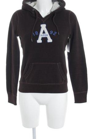 Abercrombie & Fitch Kapuzenpullover platzierter Druck Street-Fashion-Look