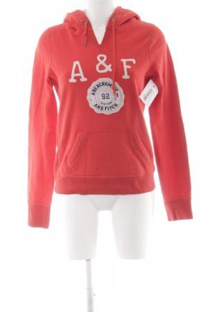 Abercrombie & Fitch Kapuzenpullover rot Casual-Look