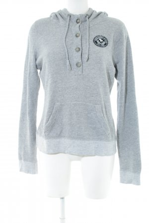 Abercrombie & Fitch Hooded Sweatshirt light grey flecked casual look