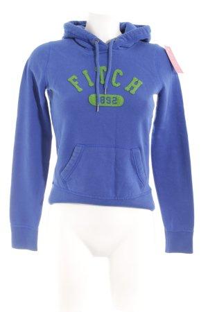 Abercrombie & Fitch Kapuzensweatshirt blau-grasgrün Casual-Look