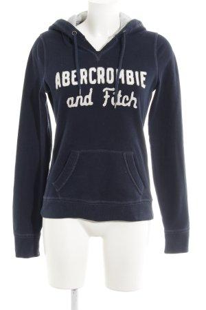 Abercrombie & Fitch Kapuzensweatshirt dunkelblau-weiß Casual-Look
